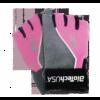 Lady 2 - női pink-szürke kesztyű M