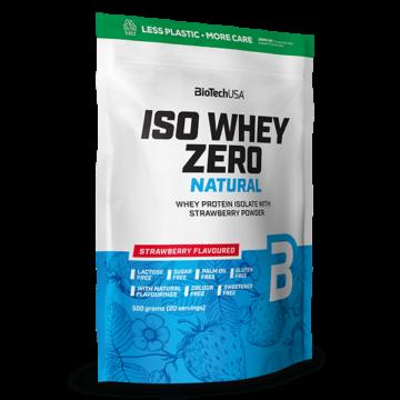 Iso Whey Zero Natural tejsavófehérje izolátum alapú italpor - 500 g eper ízű
