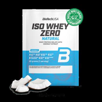 Iso Whey Zero Natural tejsavófehérje izolátum alapú italpor - 25 g kókusz ízű 10 db/csomag