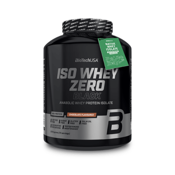 Iso Whey Zero Black tejsavófehérje-izolátum alapú italpor - 2270 g csokoládé