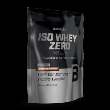 Iso Whey Zero Black tejsavófehérje-izolátum alapú italpor - 500 g eper