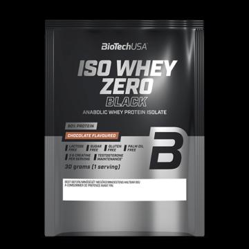 Iso Whey Zero Black tejsavófehérje-izolátum alapú italpor - 30 g eper 10 db/csomag