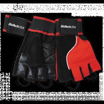 Memphis 1 - Csuklószorítós piros-fekete kesztyű XL