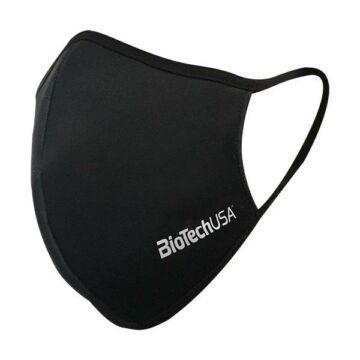 Mosható szájmaszk kétrétegű, BioTechUSA logó fekete