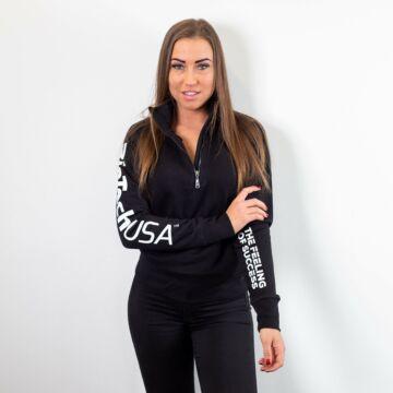 Payper Miami+ Lady félig cipzáras pulóver  - női fekete M