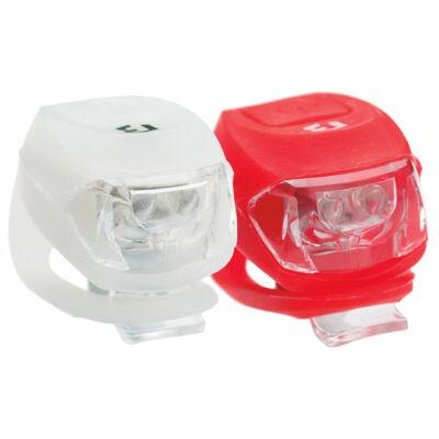 Lámpa BIKEFUN PIXIE szett E+H 2+2 LED, fehér+piros - JY-267-2B-SET