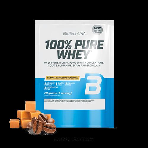 100% Pure Whey - 28 g karamell-cappuccino 10 db/csomag