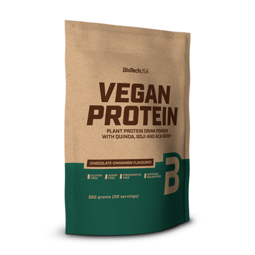 Vegan Protein, fehérje vegánoknak - 500 g csokoládé-fahéj