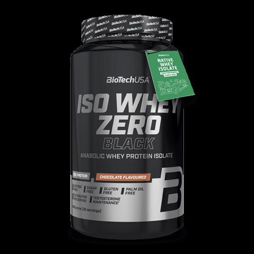 Iso Whey Zero Black tejsavófehérje-izolátum alapú italpor - 908 g eper