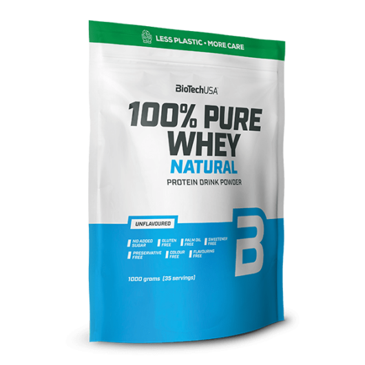 100% Pure Whey Natural tejsavófehérje-koncentrátum italpor - 1000 g