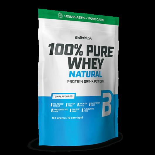 100% Pure Whey Natural tejsavófehérje-koncentrátum italpor - 454 g