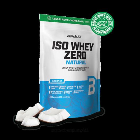 Iso Whey Zero Natural tejsavófehérje izolátum alapú italpor - 500 g kókusz ízű