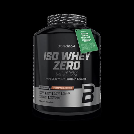 Iso Whey Zero Black tejsavófehérje-izolátum alapú italpor - 2270 g eper