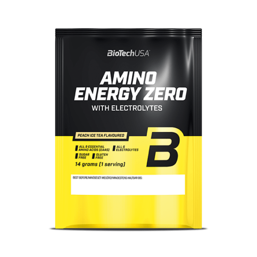 Amino Energy Zero with electrolytes - 14 g barackos ice tea 10 db/csomag