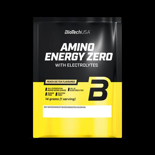 Amino Energy Zero with electrolytes - 14 g barackos ice tea 10 db/csomag
