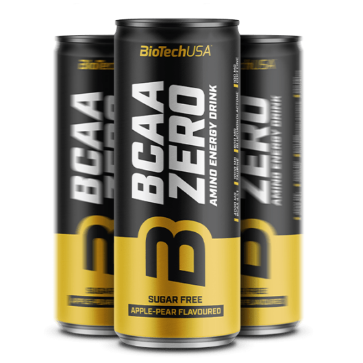 BCAA Zero Amino Energy Drink - 330 ml alma-körte 24 db/karton