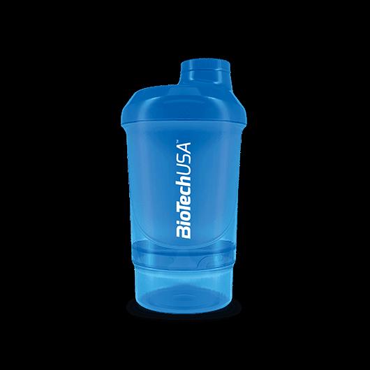 Keverőpalack Biotech Wave+ Nano 300 ml (+150 ml) kék