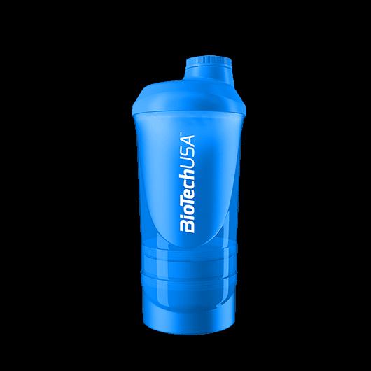 BioTechUSA Wave+ Shaker 600ml(+200ml+150ml) kék