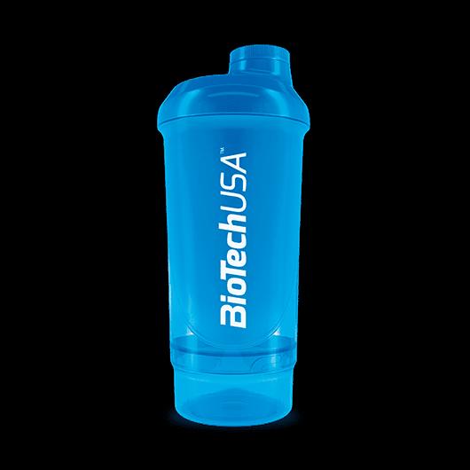 Keverőpalack Biotech Wave+ Compact 500 ml (+150 ml) kék