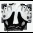 Kép 1/6 - Texas - fekete-fehér kesztyű XXL